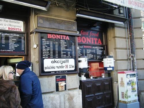 Bonita sandwich bar fast food where to eat in zagreb for Food bar zagreb