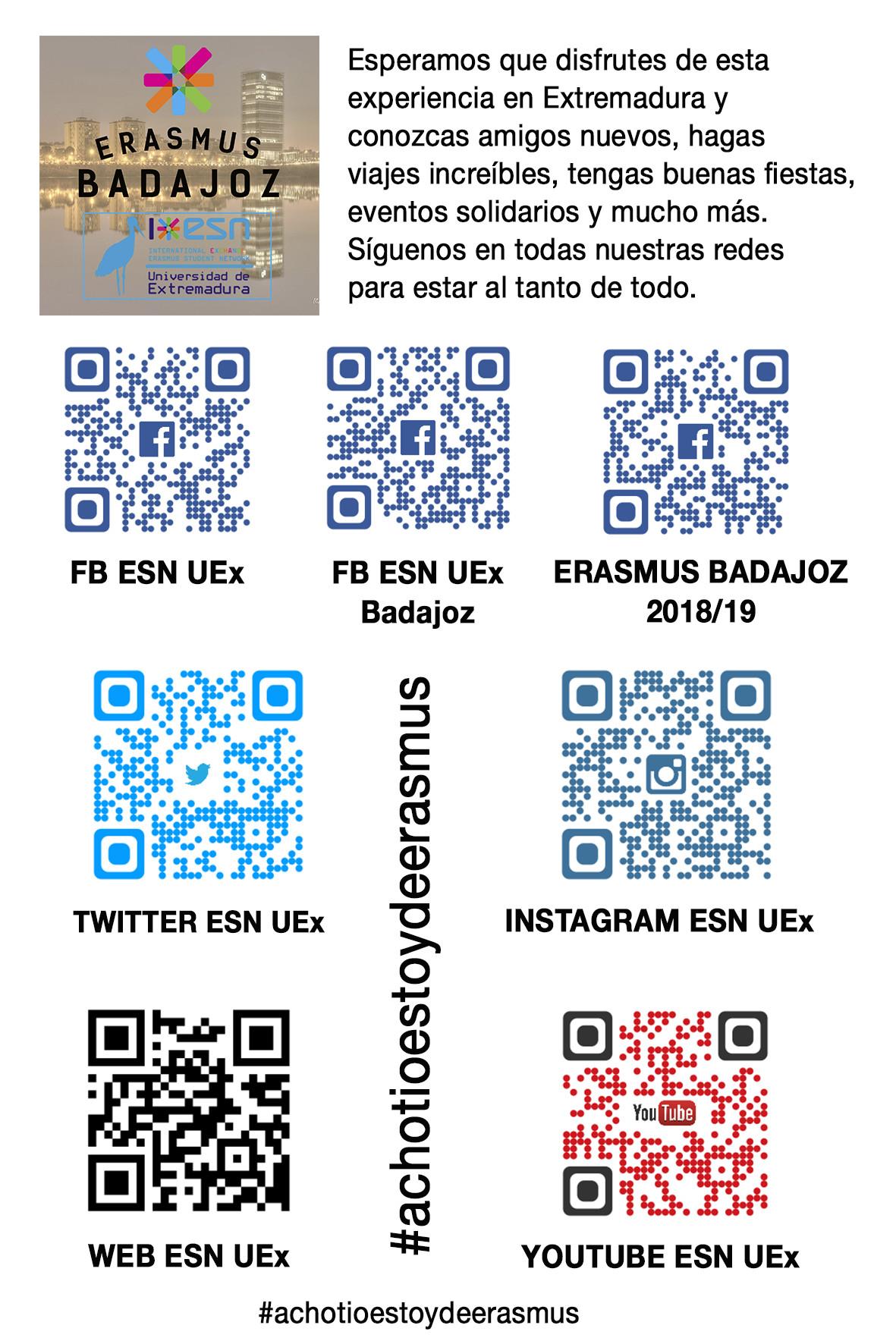 Erasmus Badajoz 2018 / 2019 (English)