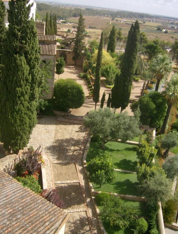 vista aerea jardines de la galera foto erasmus badajoz