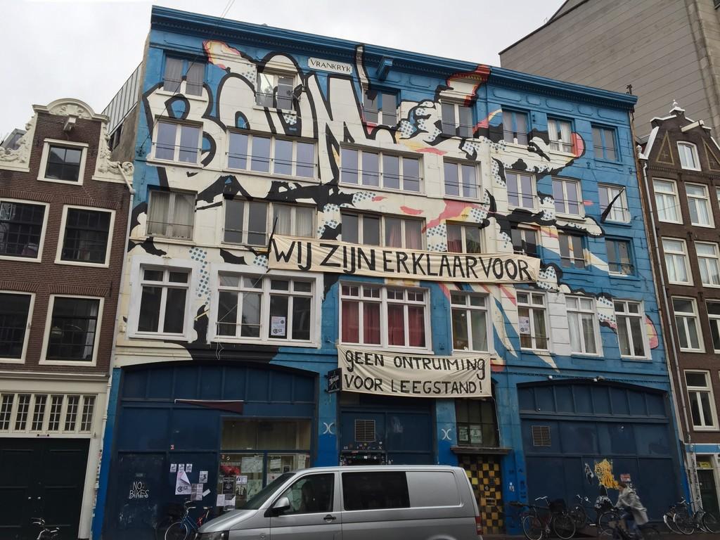 Graffiti on Spuistraat, Amsterdam