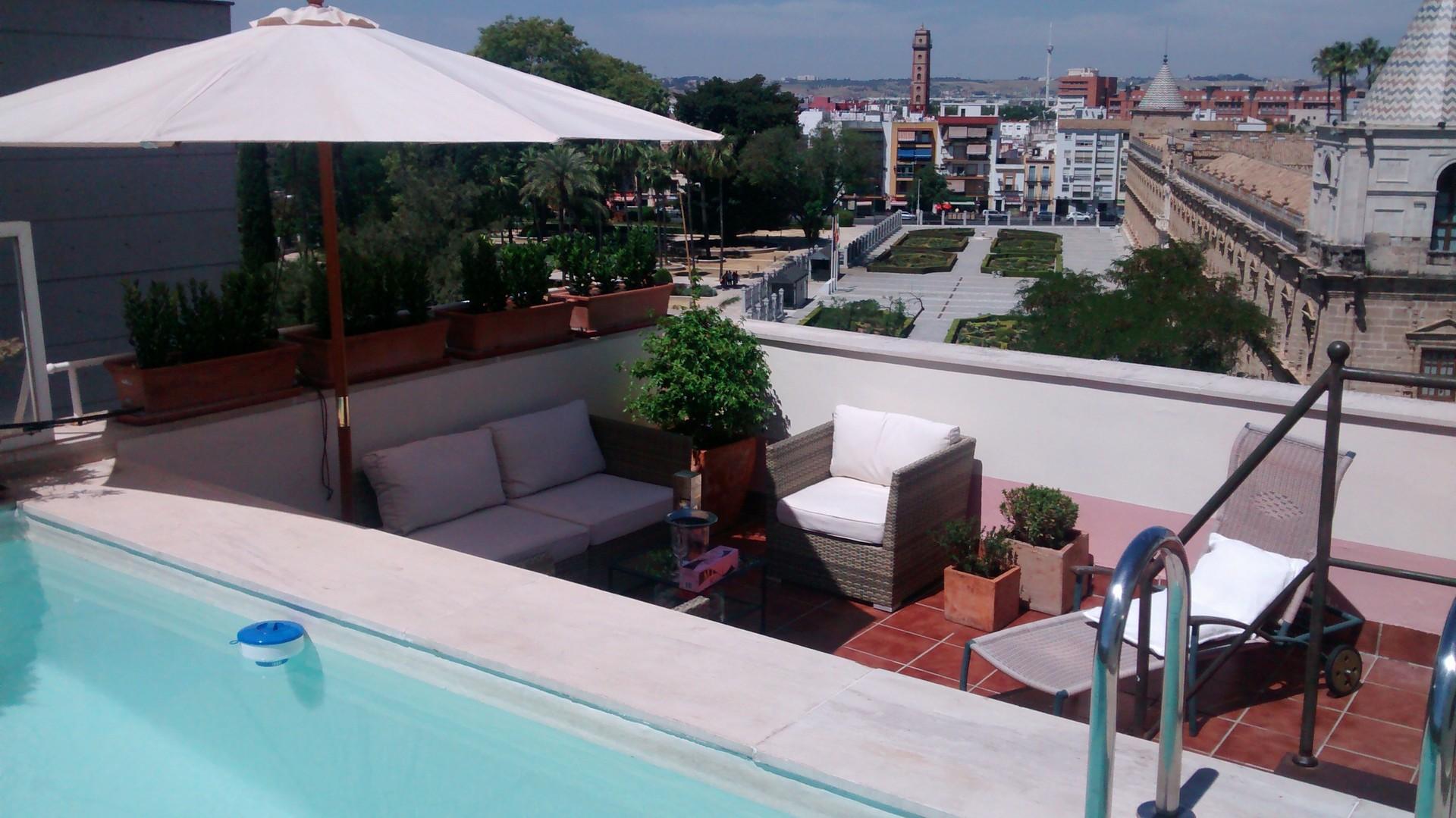 Habitacion en piso atico con piscina privada y terraza expectacular alquiler habitaciones sevilla - Piscina terraza atico ...