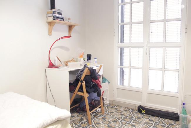 Habitación en piso de estudiantes con cama individual