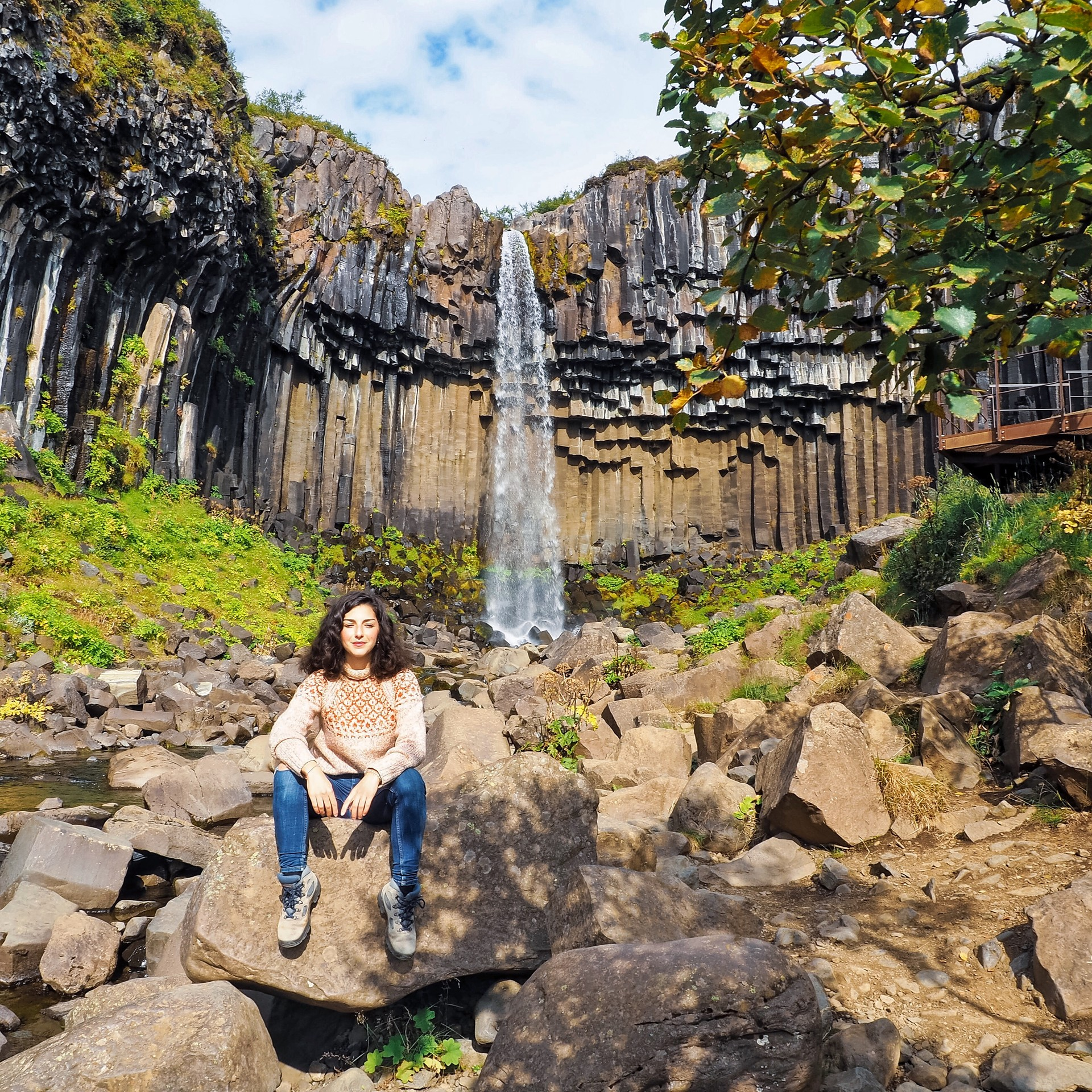 La cascade de Svartifoss