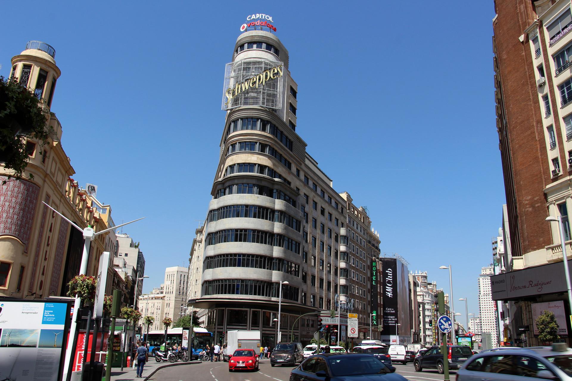 La Gran Vía di Madrid