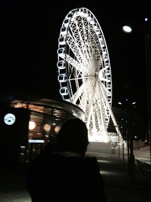 La grande ruota di Liverpool - vista sulla città