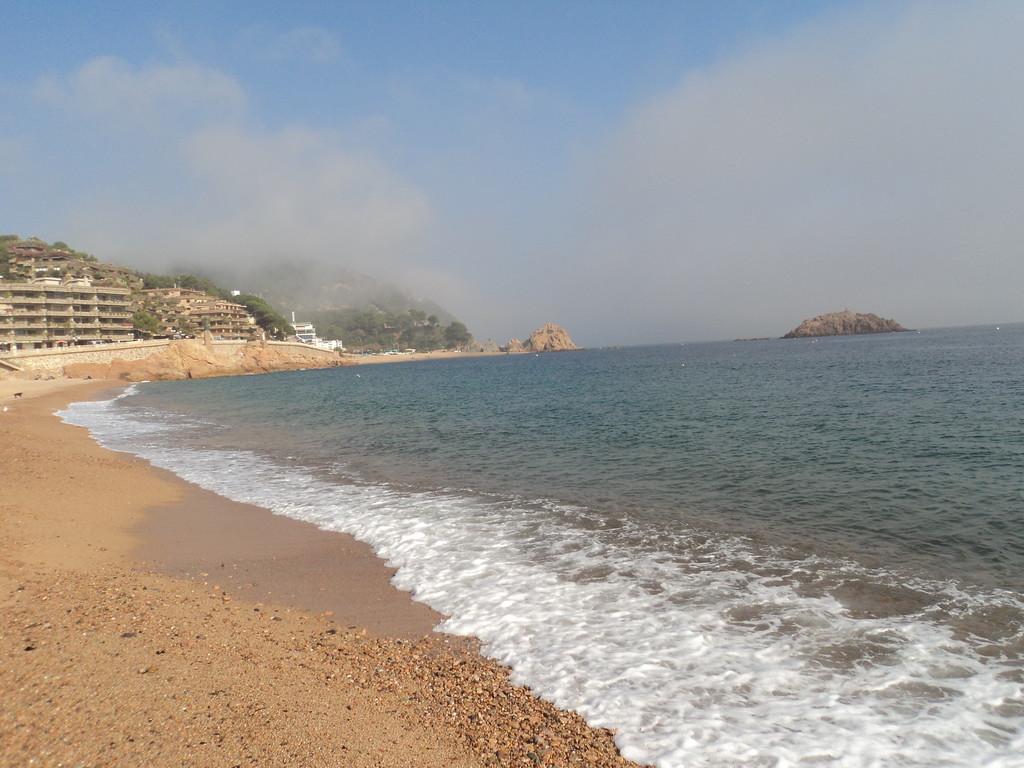La playa de Blanes: muy limpia y tranquila