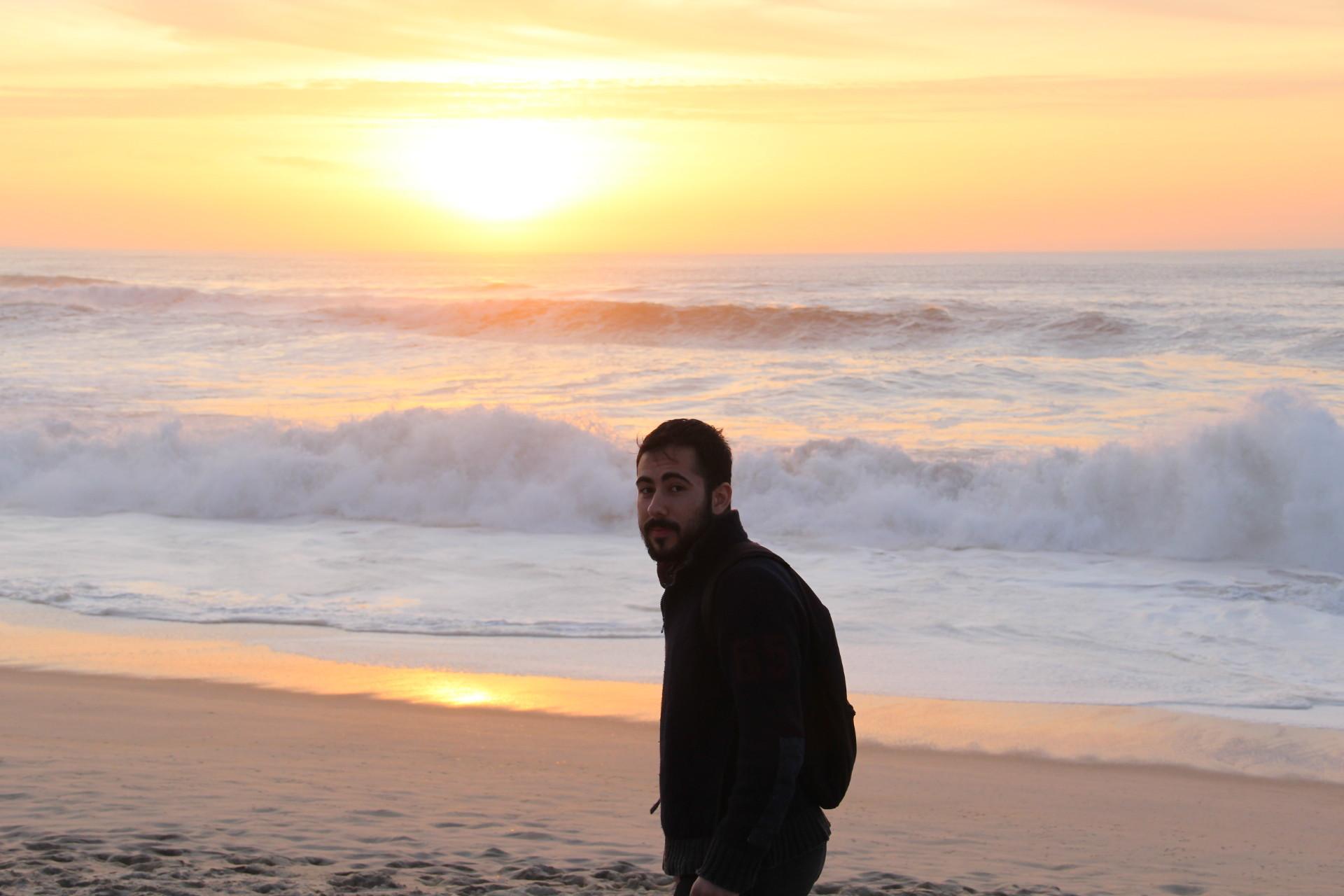 La playa de Costa Nova, en Portugal