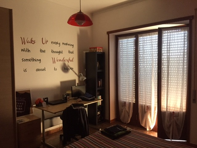 very large, double room for single use, bright, with large and e