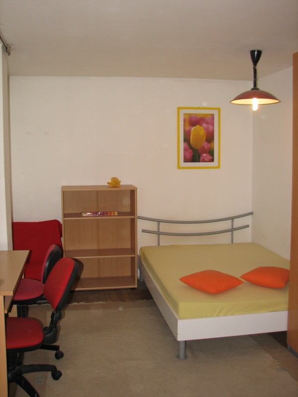 Large fully furnished single or double bed in a student appartem ...