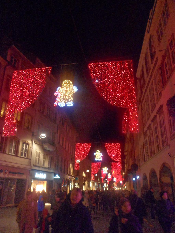 Las luces del mercado de Navidad