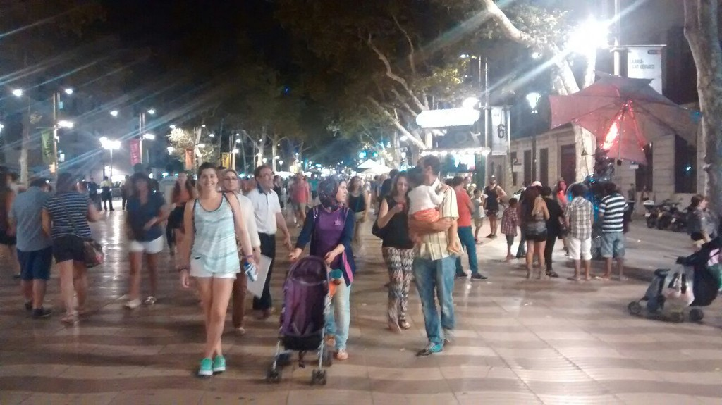 Las Ramblas, the central promenade