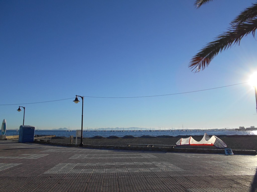 Lo Pagán, plage à Murcie, en Espagne