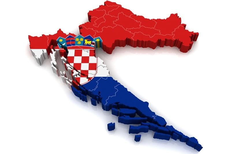 Mapa Hrvatske Erasmus Photo Zagreb