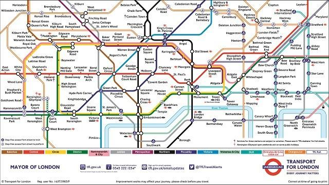 Jak Bedzie Wygladac Mapa Metra Londynu W 2040 Roku