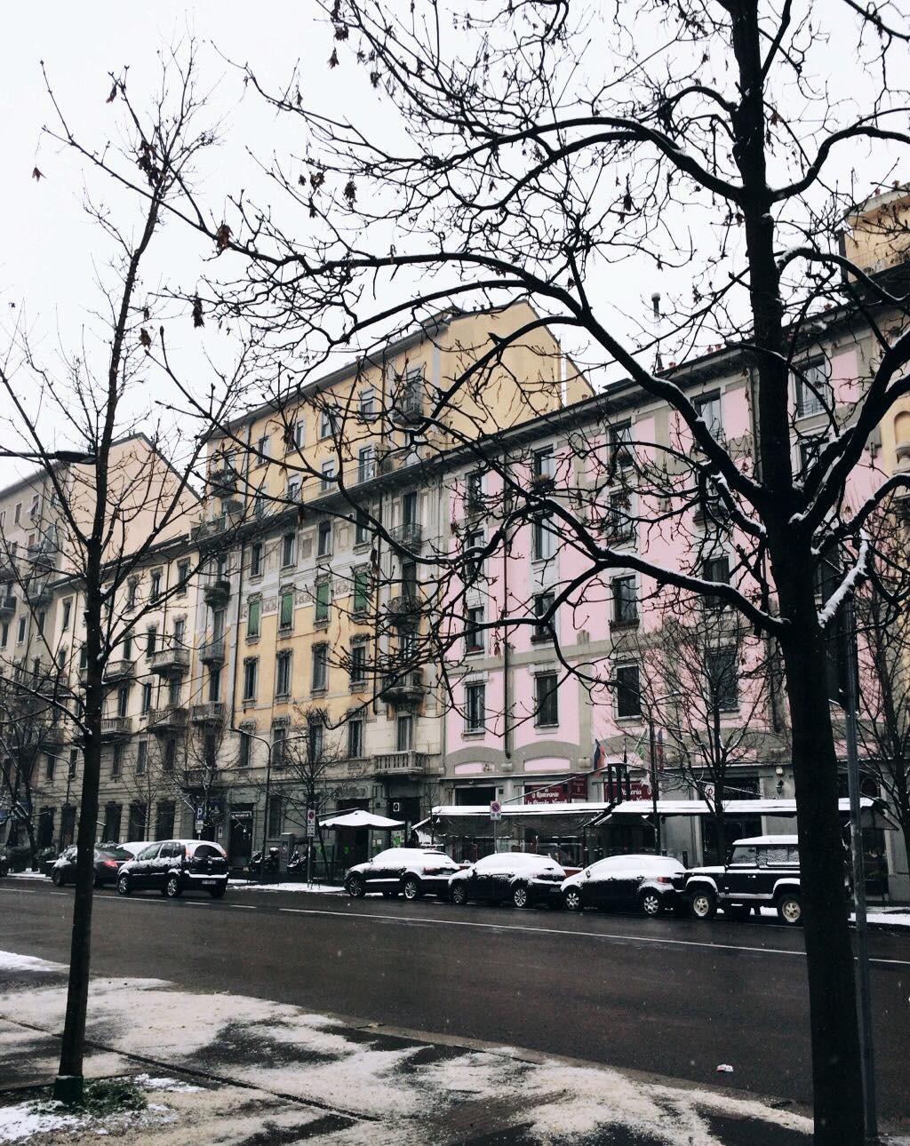 Milan sous la neige