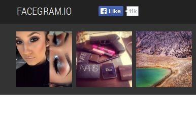 Mira, dale a me gusta y comenta tus fotos de Facebook e Instagram con Facegram.io