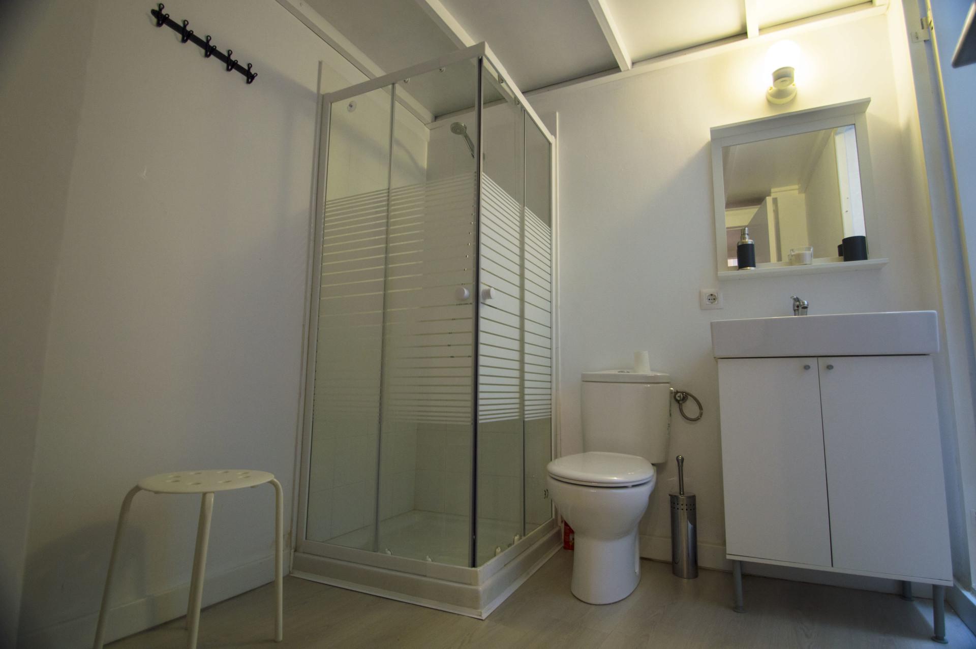 Modern studio apartment with AC and mezzanine floo