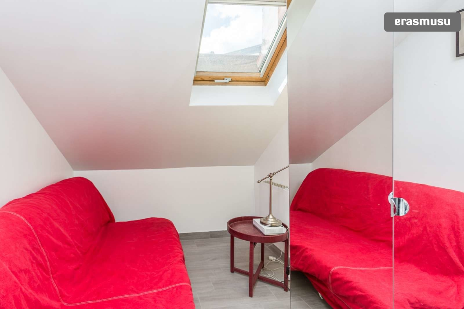 Modern Studio Apartment With Loft Bedroom For Rent Near Metro In