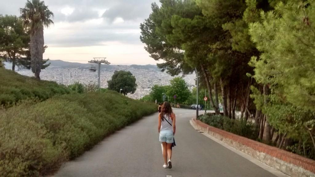 Montjuic, desde lo alto de Barcelona