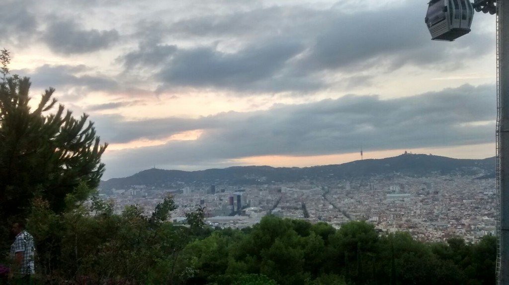 Montjuic, from the top of Barcelona