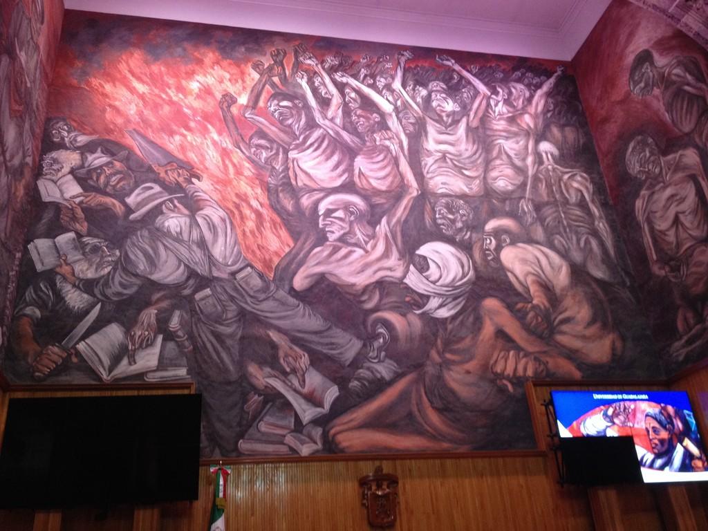 Murales del pintor jalisciense Orozco