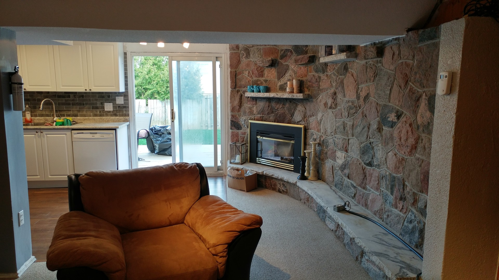 Backyard Apartment newly renovated above ground basement apartment with walkout to