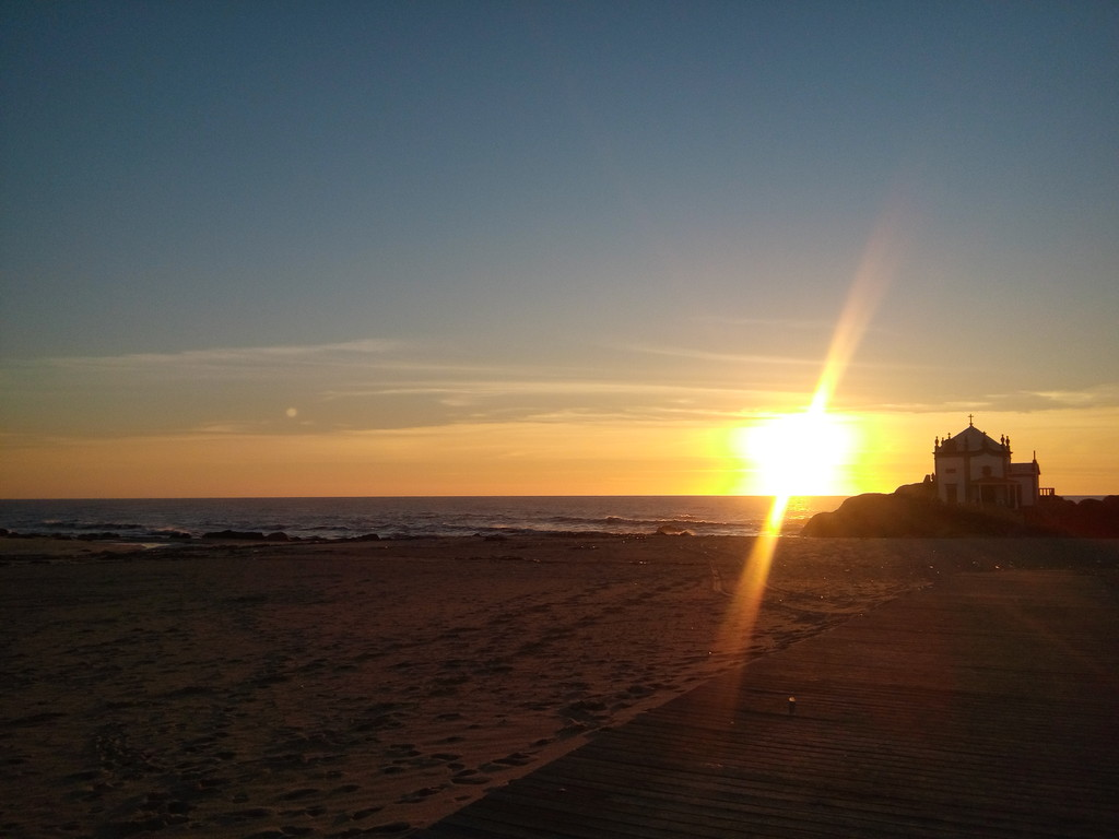 O melhor pôr-do-sol na praia no Porto