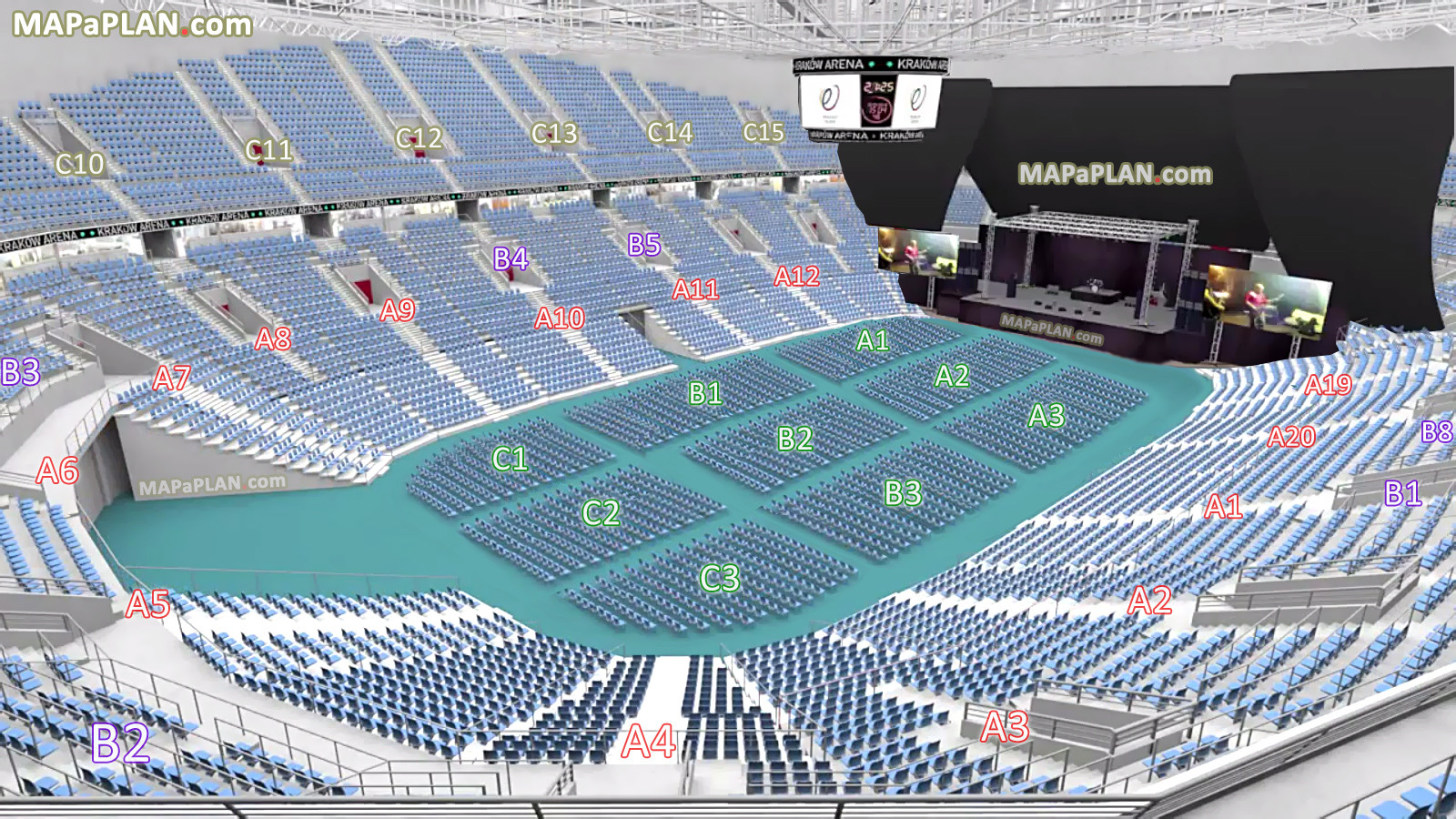 Ogromne miejsce na koncert czy wydarzenie sportowe