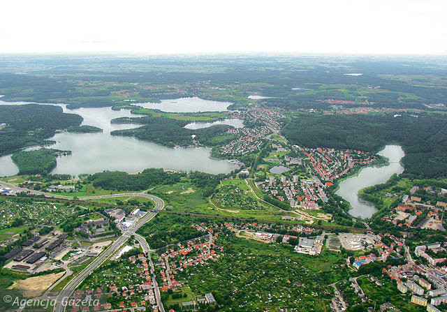 Olsztyn from the air