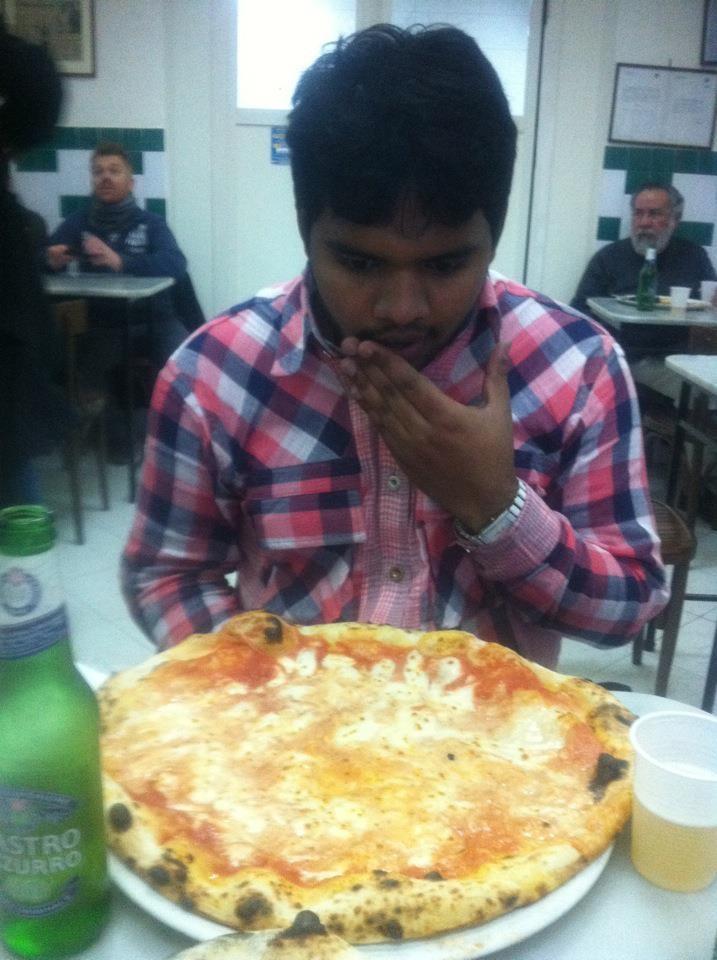 Opinia Pradeepa na temat najlepszej pizzy w Neapolu