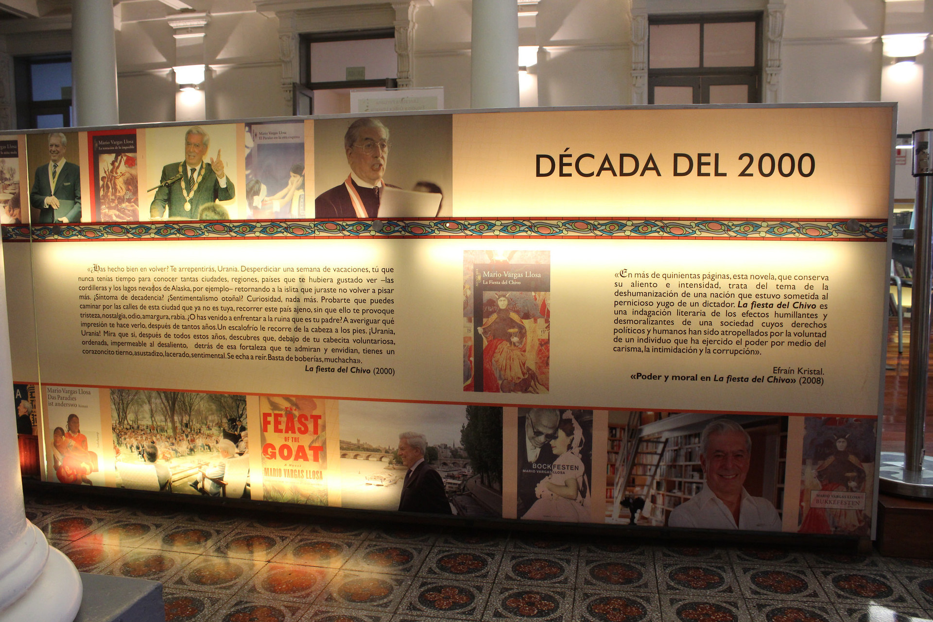 Peruvian art and history found here in writing