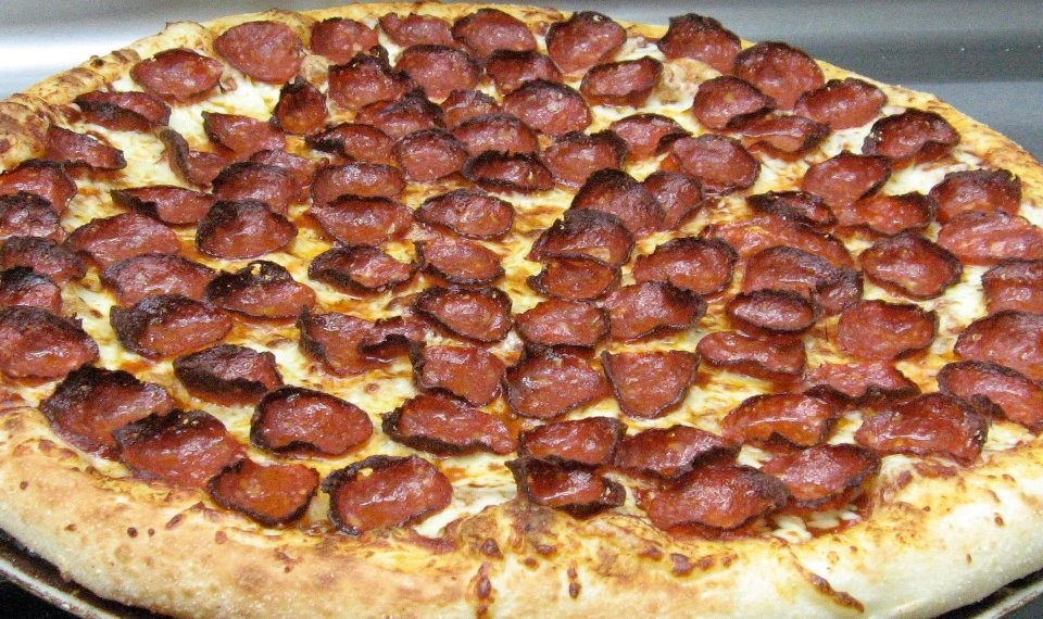 Pizza de queso picante en Ronny's Pizza