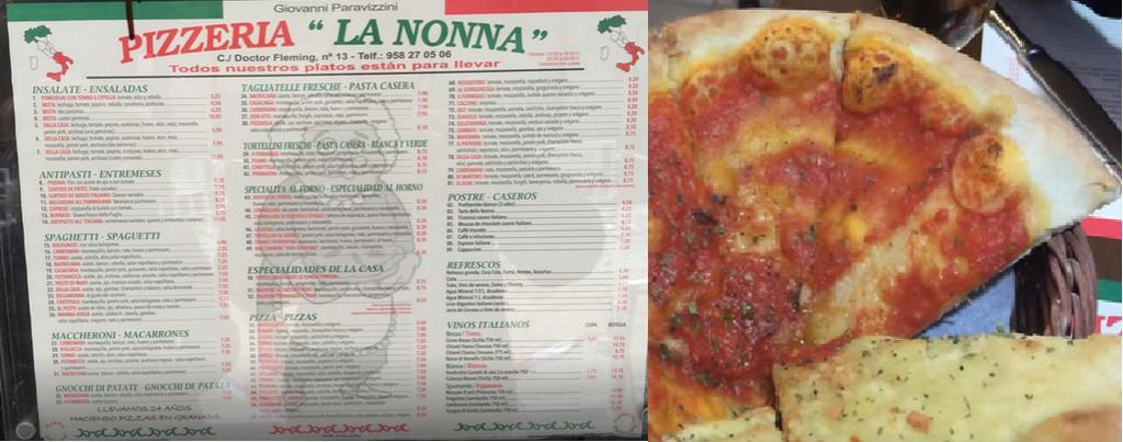 Pizzeria la nonna d nde comer en granada - Pizzeria la nonna ...