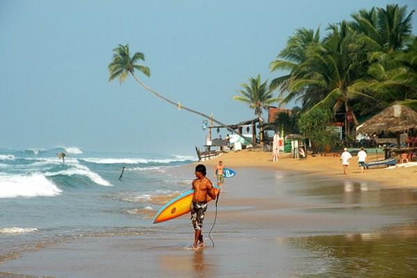 Plaża Hikkaduwa, Sri Lanka