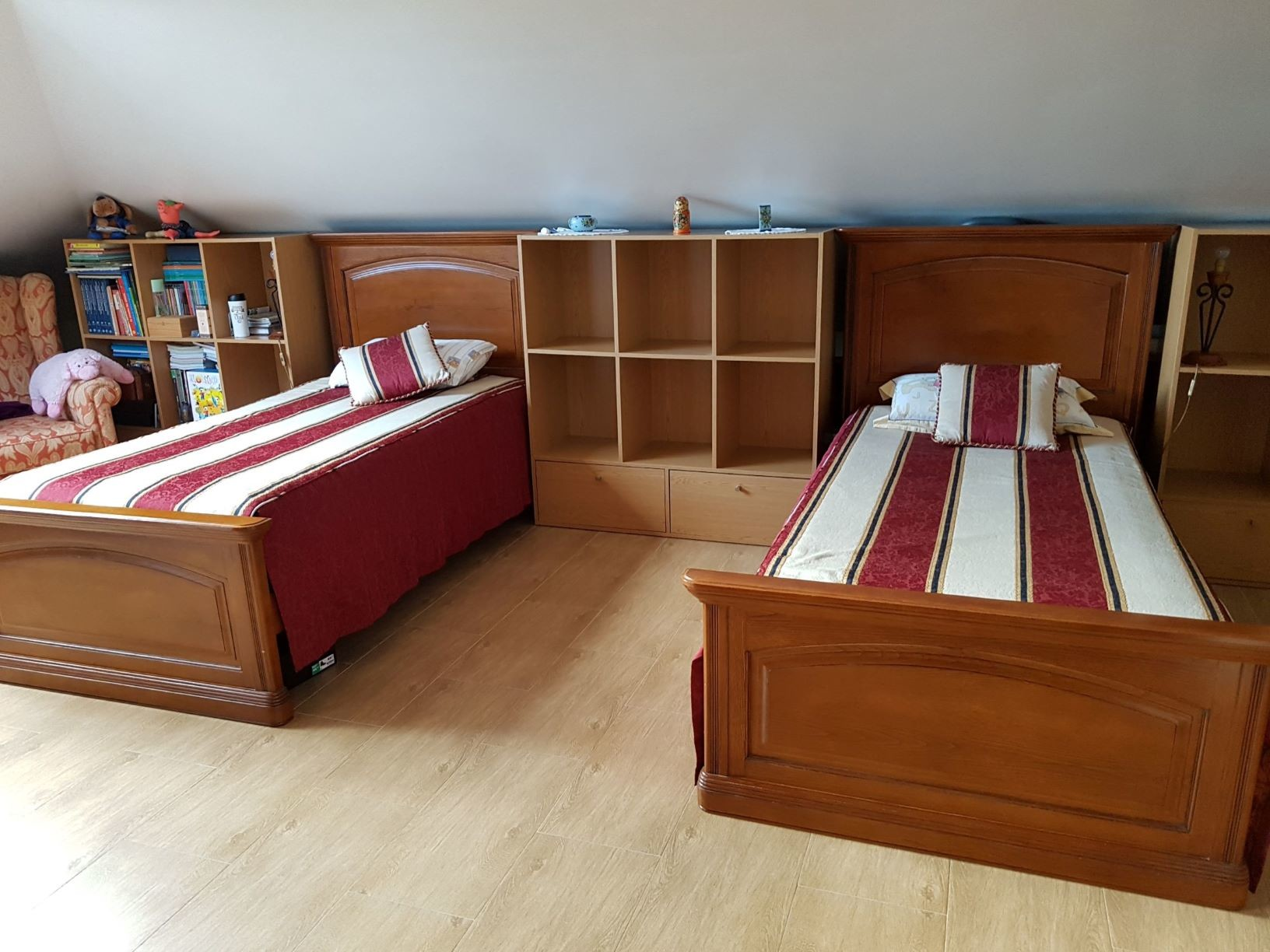 Twin room with private kitchenette and WC (only for students)