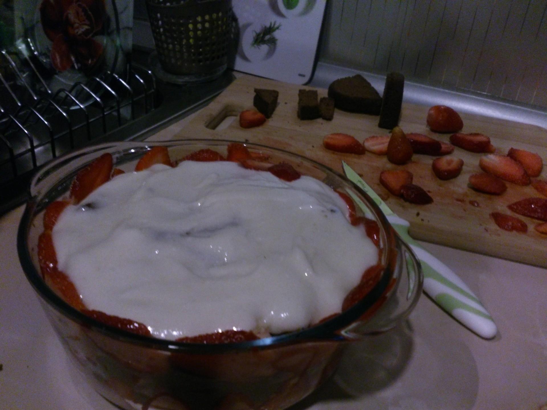 Receta de trifle de fresas