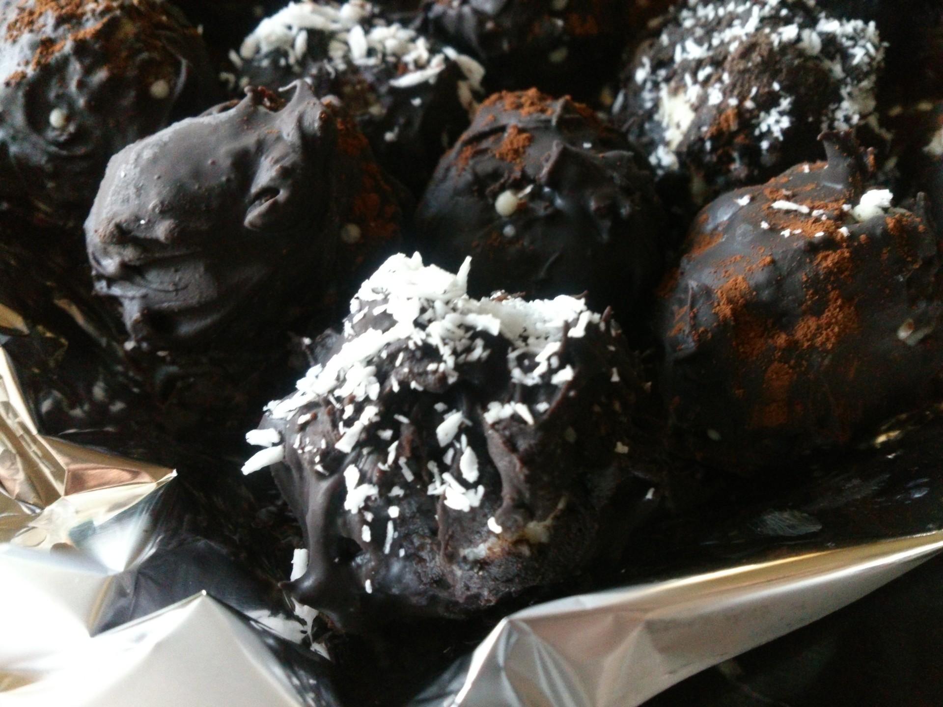 Receta de trufas de coco