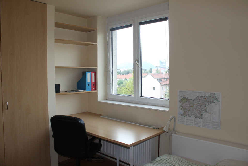 Room With Big Bad In A Nice Apartment In Bežigrad Next To