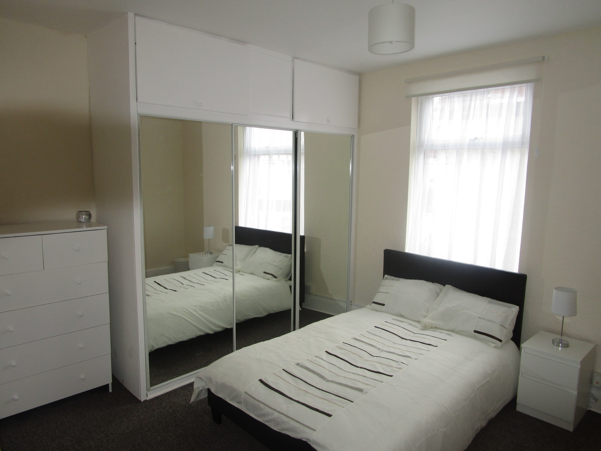 Room three, large room with mirror wardrobes lots of space