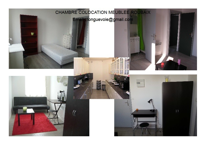 Roubaix lille m tro chambre coloc appartement studio t1 for Chambre a louer lille
