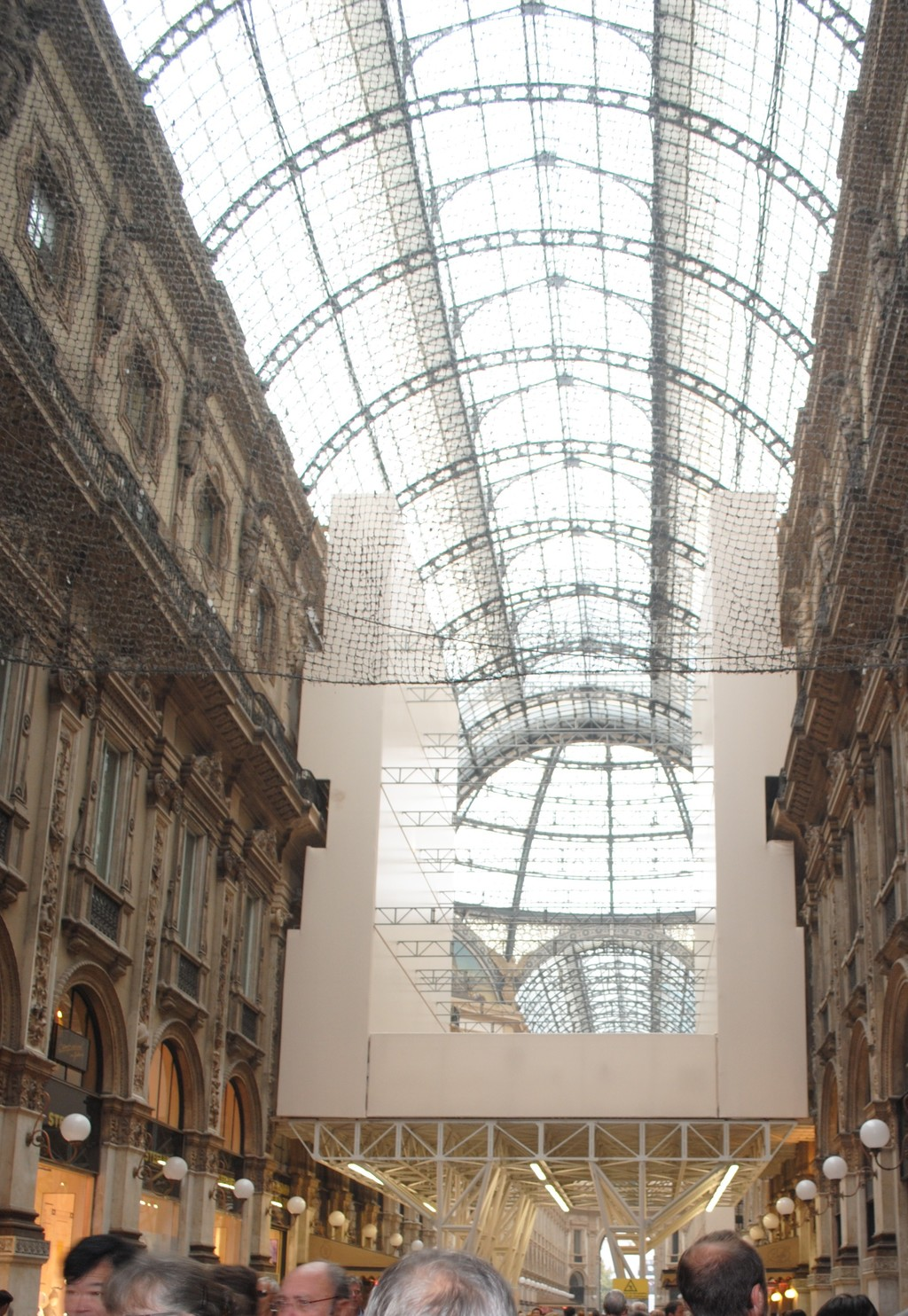 Shopping in a luxury gallery