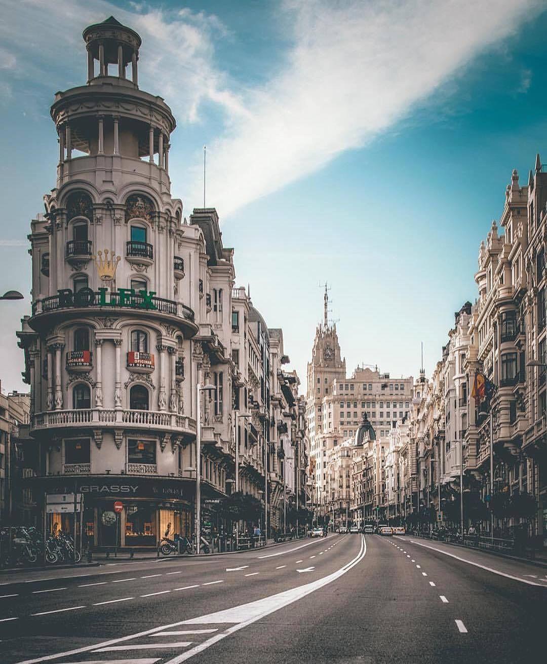 Simplesmente apaixonando-me por Madrid, por Silvia!