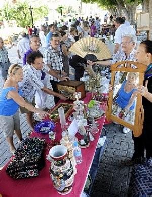 Small Sunday morning flea market