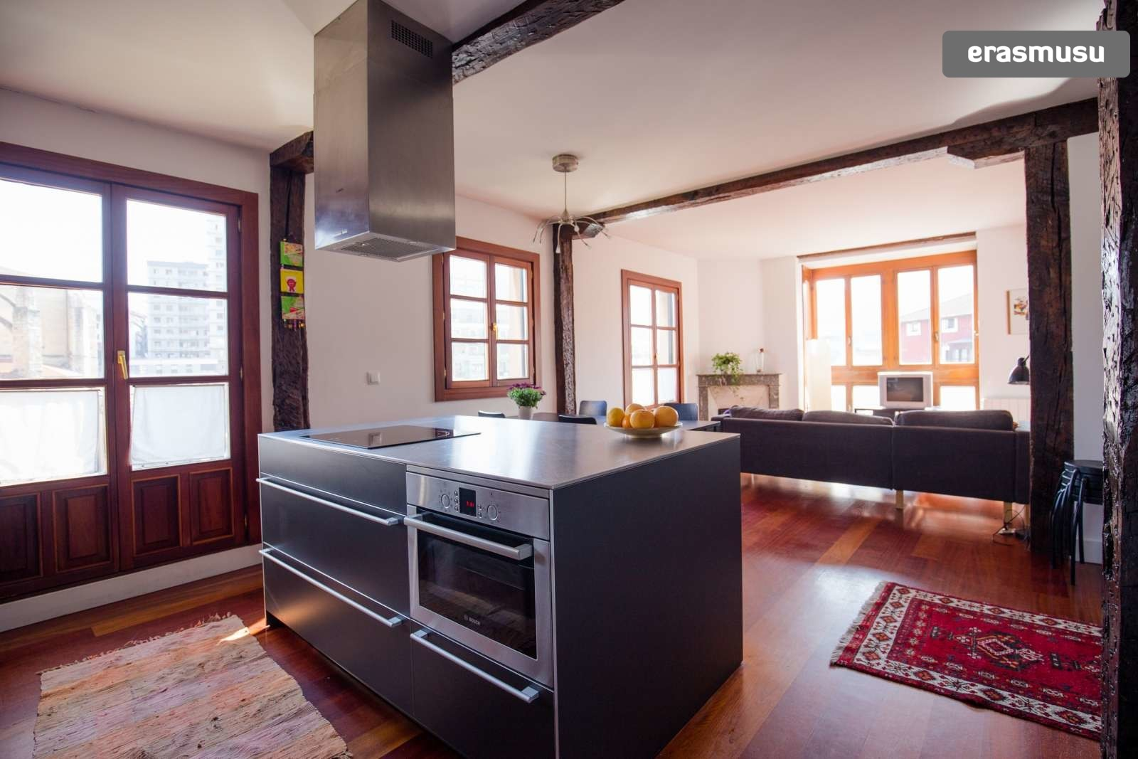 Spectacular 2 Bedroom Apartment With Balcony For Rent In Bilbao La