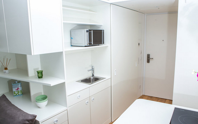 Standard Apartment with Shower/Toilet and Galley Kitchen