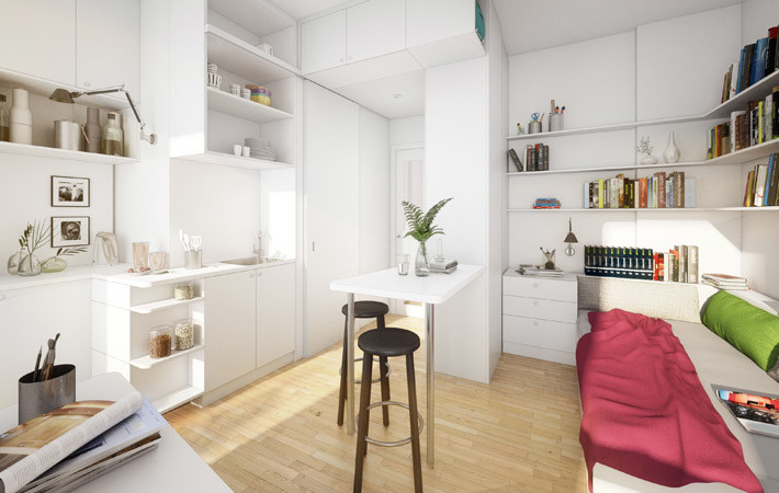 Standard Apartment with Shower/Toilet and Kitchen