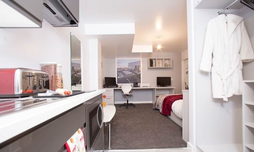 Standard studio available in Preston for international students