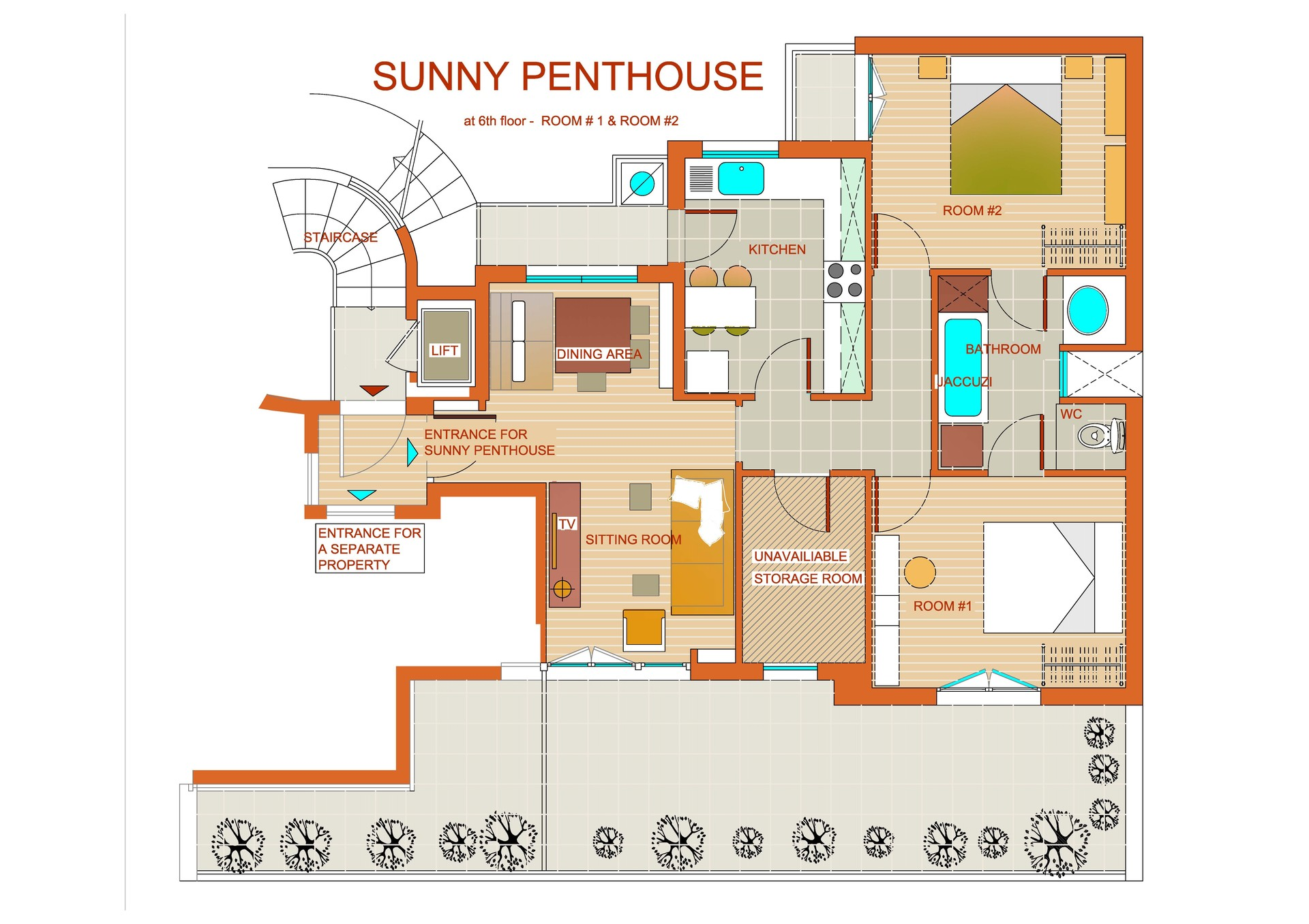 SUNNY PENTHOUSE: ...SUNRISE & SUNSET in center of Athens