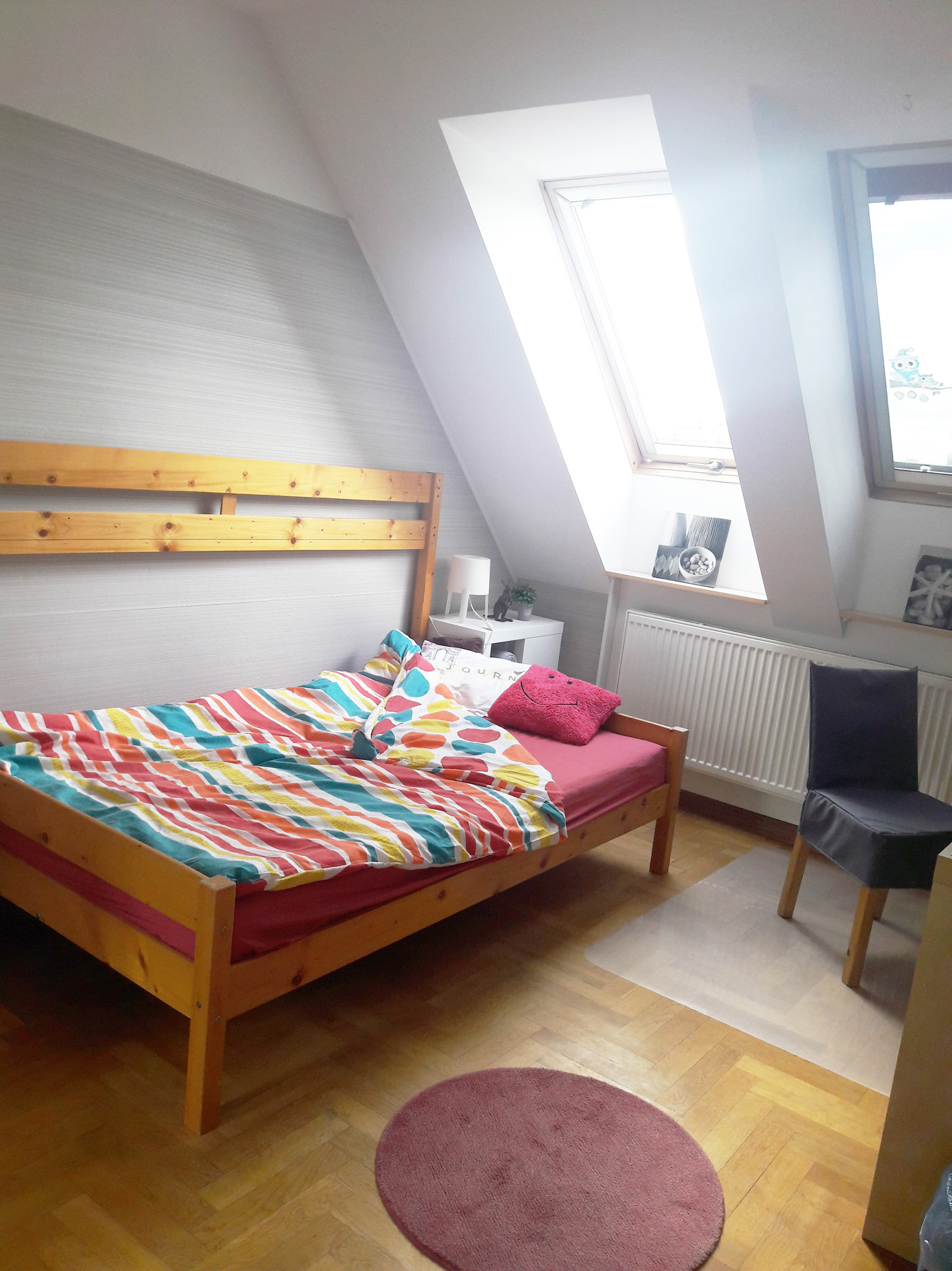 Sunny room with a large wardrobe. 3 km from the center of Gdans