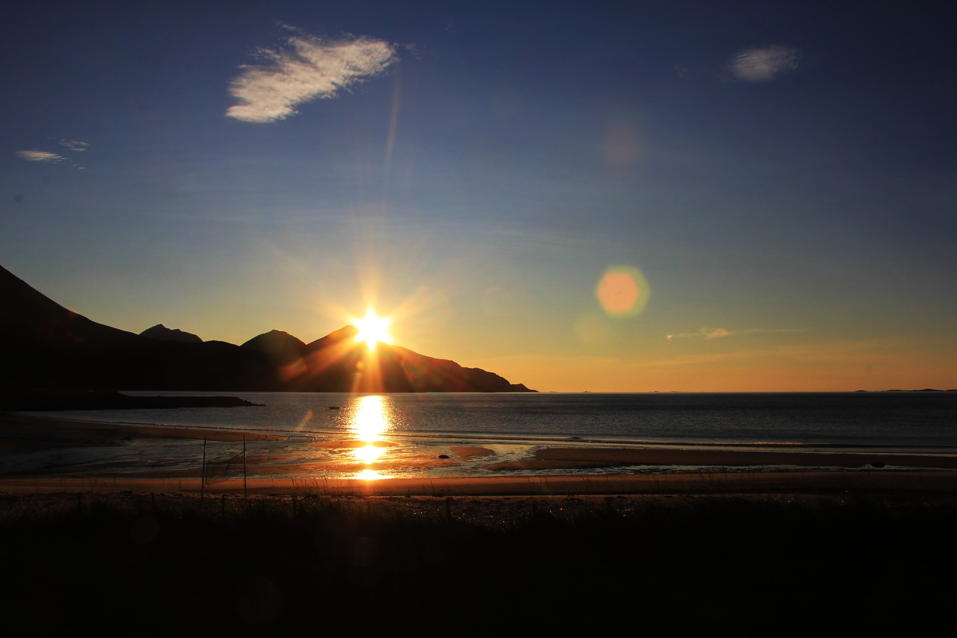 Sunset at Grøtfjord